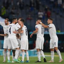 Timnas Italia menang 2-0 atas Turki pada laga pertama grup A di Euro 2020 / 2021 (AFP)