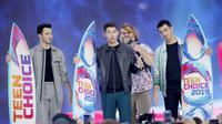 Jonas Brothers dalam Teen Choice Awards 2019 (Photo by Danny Moloshok/Invision/AP)