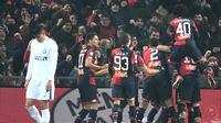 Genoa Vs Inter Milan (AP Photo/Luca Zennaro)