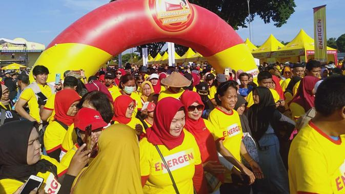 Gerakan Nasional Sarapan Sehat Setiap Hari digelar Energen di Yogyakarta, Minggu (16/2/2020). (Liputan6.com/ Switzy Sabandar)