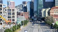 Pemandangan Wellington, Selandia Baru pada 9 Juni 2020. Produk Domestik Bruto (PDB) Selandia Baru turun 12,2 persen pada kuartal Juni 2020, yang merupakan rekor penurunan kuartalan terbesar, akibat penerapan pembatasan COVID-19 yang berdampak terhadap aktivitas ekonomi. (Xinhua/Guo Lei)