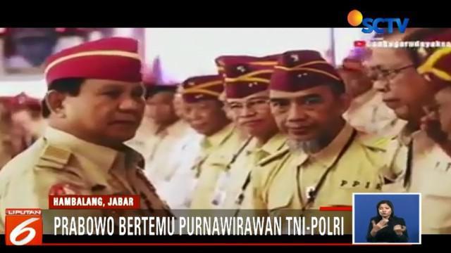 Sebagai bentuk rasa terima kasih atas dukungan yang diberikan kepada dirinya dan Sandiaga Uno, Prabowo memberikan salam hormat kepada para purnawirawan.