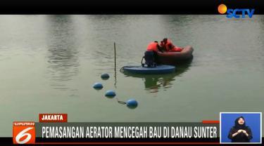 Pemasangan aerator ini dilakukan untuk meminimalisir bau yang timbul dari permukaan Danau Sunter Selatan menjelang kedatangan kontingen peserta Asian Games.