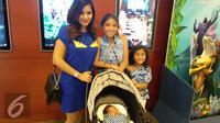 Meisya Siregar bersama tiga anaknya. (Fajarina Nurin/Liputan6.com)