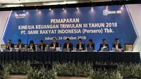 Pemaparan Kinerja Keuangan Triwulan III Tahun 2018 PT. Bank Rakyat Indonesia (Persero) Tbk di Kantor Pusat BRI, Jakarta (24/10).