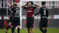 Gianluca Lapadula mencetak gol penentu saat melawan Crotone, pada Minggu (4/12/2016) malam. (MARCO BERTORELLO / AFP)