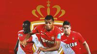 AS Monaco - Benjamin Mendy, Kylian Mbappe, James Rodriguez (Bola.com/Adreanus Titus)