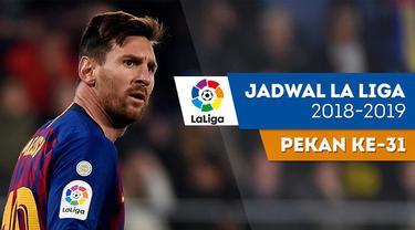 Berita video jadwal La Liga 2018-2019 pekan ke-31. Barcelona ditantang Atletico Madrid, Minggu (7/4/2019) di Camp Nou, Barcelona.