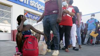 FOTO: Ribuan Migran Haiti Tiba di Texas
