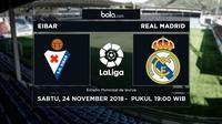 La Liga Eibar Vs Real Madrid (Bola.com/Adreanus Titus)