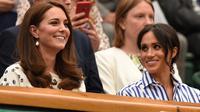 Kate Middleton dan Meghan Markle (Oli SCARFF / AFP)