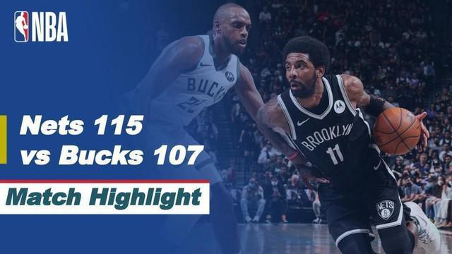 Berita video highlights game 1 semifinal wilayah timur NBA Playoffs 2021, di mana Brooklyn Nets mengalahkan Milwaukee Bucks 115-107, Minggu (6/6/2021) pagi hari WIB.