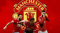 Manchester United - Juan Mata, Alexis Sanchez, Bruno Fernandes (Bola.com/Adreanus Titus)