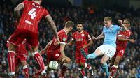 Gelandang Manchester City, Kevin De Bruyne. (AP/Dave Thompson)