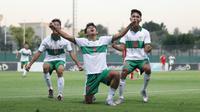 Penyerang Timnas Indonesia U-16,  Ahmad Athallah Raihan, mengaku timnya siap memetik hasil maksimal dalam laga uji coba kedua kontra Uni Emirat Arab. (dok. PSSI)