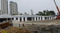 Pertamina sulap lapangan bola simprug menjad Rumah Sakit Darurat Covid-19.