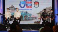 Debat publik tahap I Pilkada Solo yang digelar di The Sunan Hotel Solo, Jumat (6/11/2020). (Ist)