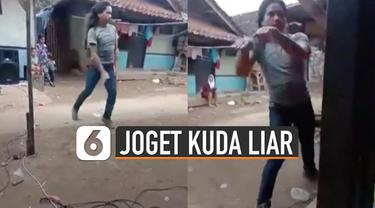 Baru-baru ini beredar video yang menunjukkan pria berjoget sambil berputar-putar seperti kuda liar mengikuti irama musik.