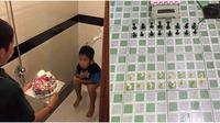 Kelakuan Nyeleneh saat di Kamar Mandi (Sumber: Instagram/