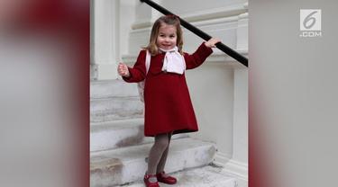Begini momen bahagia putri kedua Pangeran William dan Kate Middleton, Charlotte Elizabeth Diana pada hari pertama masuk sekolah.