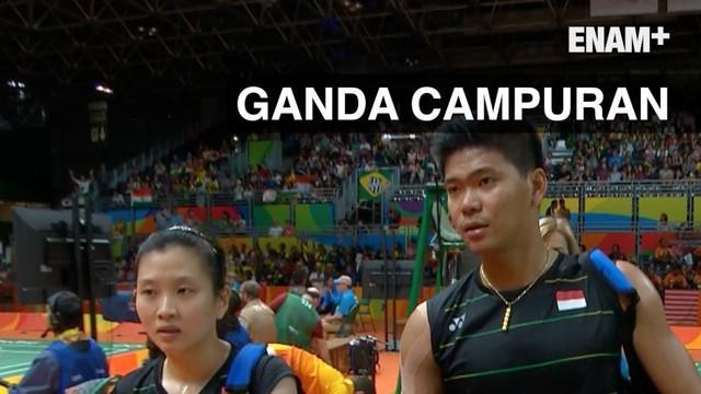 Pasangan ganda campuran P. Jordan/ D. Susanto akhirnya berhasil menaklukan perlawanan pasangan Lee Chun Hei/Chau Hoi Wah