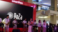 Reza menjadi pengisi acara di acara peluncuran eSIM pertama di Indonesia dari Smartfren/Gilar Ramdhani.