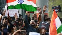 Demontrasi UU Kewarganegaraan Anti Islam di India. (Source: AFP/ Sanjay Kanojia)
