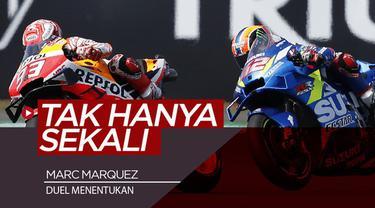Berita video catatan pembalap Repsol Honda, Marc Marquez, yang sudah tiga kalah dalam duel menentukan di MotoGP 2019. Kapan sajakah itu?