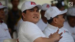 Ketua TKN Erick Thohir menghadiri deklarasi komitmen bersama menjelang kampanye rapat umum dan iklan kampanye Pemilu 2019, Jakarta, Sabtu (23/3). Bawaslu berharap deklarasi ini menjadi suatu komitmen semua pihak menciptakan Pemilu yang beretika dan bermartabat. (merdeka.com/Imam Buhori)
