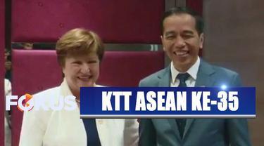 Jokowi dalam pertemuan ini menyampaikan ucapan selamat atas peran baru Kristalina sebagai Direktur Pelaksana IMF pada Oktober lalu.