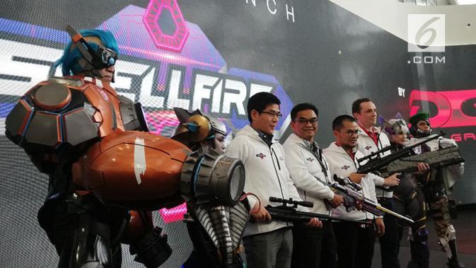 Peluncuran gim ShellFire di Jakarta, Senin (1/10/2018). Liputan6.com/ Andina Librianty
