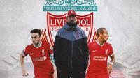 Liverpool - Diogo Jota, Jurgen Klopp, Thiago Alcantara (Bola.com/Adreanus Titus)