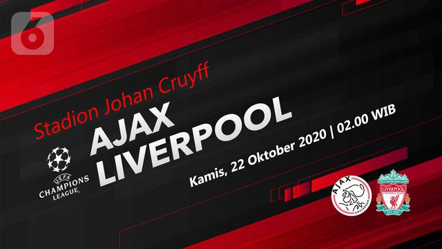 Link Live Streaming Ajax Amsterdam Vs Liverpool Di Liga Champions Bola Liputan6 Com