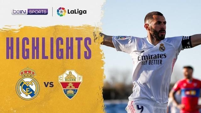 Berita video highlights Liga Spanyol, Real Madrid kalahkan El Che 2-1 berkat Karim Benzema, Minggu (14/3/21)