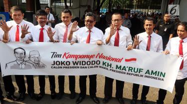 Naik Moge 9 Sekjen Parpol Jokowi-Ma'aruf Amin Lengkapi Berkas ke KPU