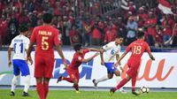 Timnas India U-16 vs Timnas Indonesia U-16 di Piala AFC U-16 2018. (AFC)