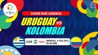 URUGUAY VS KOLOMBIA (liputan6.com/Abdillah)