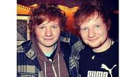 Ty Jones dan Ed Sheeran (Sumber: Caters News)