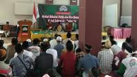 Relawan pendukung Jokowi Samijo menggelar doa bersama di Serang Banten.
