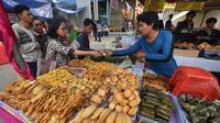 Ilustrasi pasar selama bulan Ramadan (AFP)