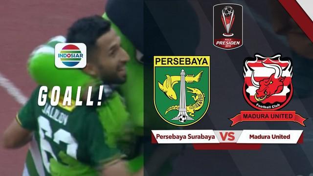 Berita video gol penentu kemenangan Persebaya Surabaya atas Madura United pada leg I semifinal Piala Presiden 2019 yang ditorehkan Manuchekhr Jalilov, Rabu (3/4/2019).