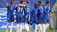 Chelsea menang 4-0 atas Crystal Palace pada laga pekan keempat Premier League, di Stamford Bridge, Sabtu (3/10/2020) malam WIB. (Mike Hewitt / POOL / AFP)