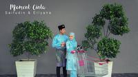 Moment cinta Saifudin dan Ellyana (Sumber: Facebook/'Roy Affandy Hj Yahya)
