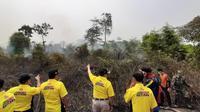 Lahan di Kabupaten Musi Banyuasin Sumsel yang terbakar (Dok. Humas Pemkab Musi Banyuasin / Nefri Inge)
