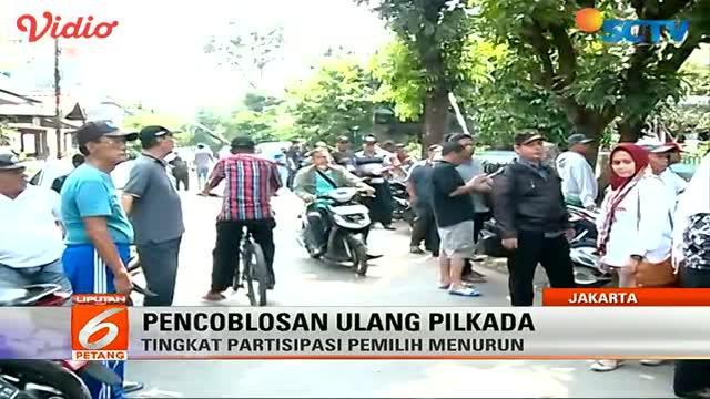 Pemungutan suara ulang di TPS 01 Gambir, diwarnai protes dari saksi paslon nomor urut 2.