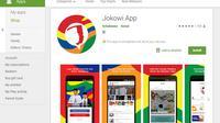Jokowi Apps jadi trending di Google Play. (Doc: Google)