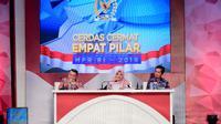 Babak Final Lomba Cerdas Cermat Empat Pilar MPR RI Tahun 2019 di  di Gedung Nusantara IV, kompleks parlemen Jakarta, Sabtu (2/11)