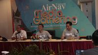 Konferensi Pers AirNav Indonesia di Padang. Liputan6.com/Ilyas Istianur P