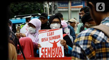 Aksi Tolak LGBT di Depok
