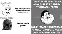 Meme bosan libur (Sumber: Instagram/meme.comic.lovers/Facebook/Meme Comic Indonesia)